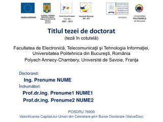 Titlul tezei de doctorat