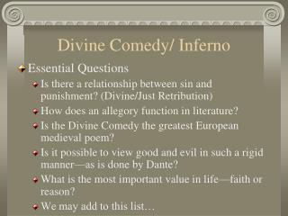 Divine Comedy/ Inferno