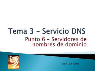 Tema 3 – Servicio DNS