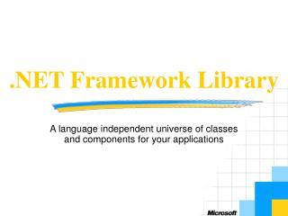 .NET Framework Library