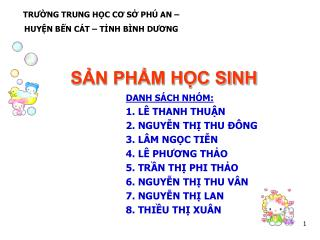 S?N PH?M H?C SINH