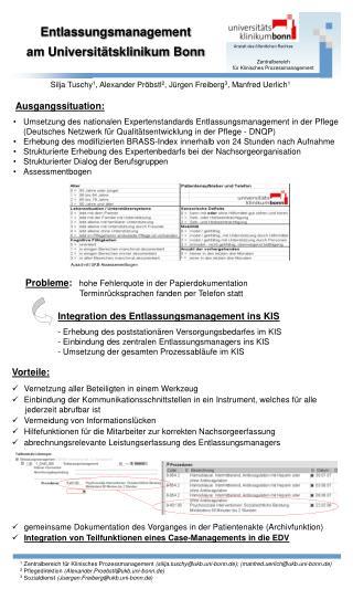 Entlassungsmanagement  l am Universitätsklinikum Bonn