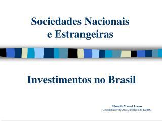 Sociedades Nacionais  e Estrangeiras