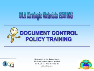 DOCUMENT CONTROL  POLICY TRAINING
