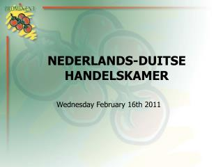 NEDERLANDS-DUITSE HANDELSKAMER
