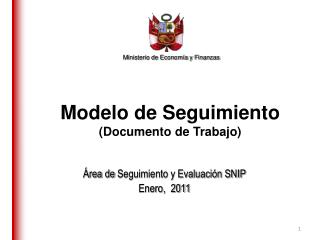 Modelo de Seguimiento (Documento de Trabajo)