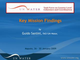 Key Mission Findings