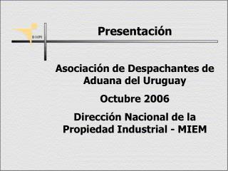 Presentación  Asociación de Despachantes de Aduana del Uruguay Octubre 2006