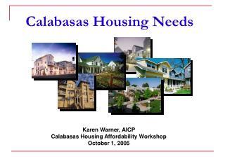 Calabasas Housing Needs