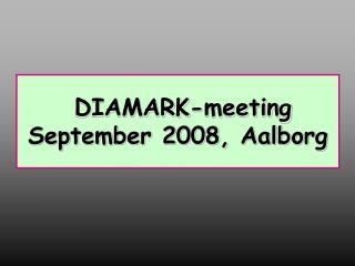 DIAMARK-meeting September 2008, Aalborg