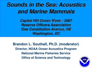 Sound in the Sea: Acoustics and Marine Mammals