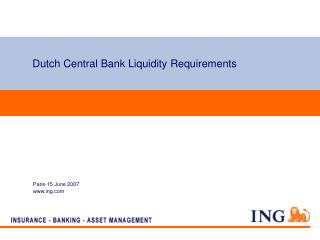 Dutch Central Bank Liquidity Requirements
