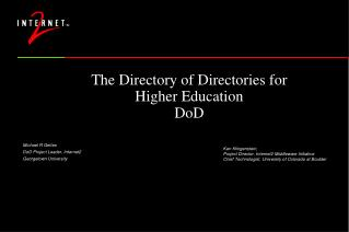 The Directory of Directories for Higher Education DoD