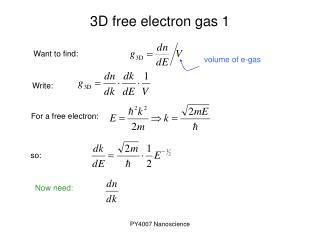 3D free electron gas 1