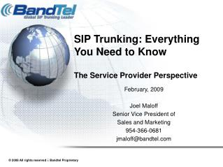 SIP Trunking: Everything You Need to Know  The Service Provider Perspective