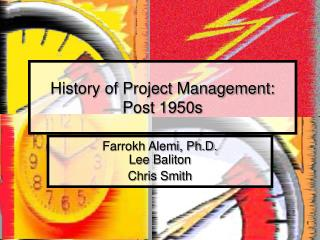 History of Project Management:  Post 1950s