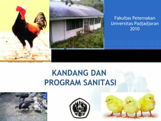 KANDANG DAN  PROGRAM SANITASI