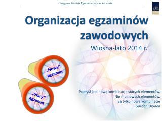 Organizacja egzamin�w zawodowych