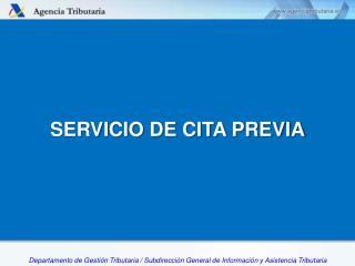 SERVICIO DE CITA PREVIA