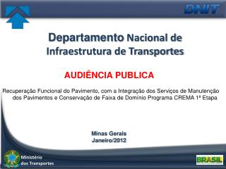 Departamento  Nacional de Infraestrutura de Transportes
