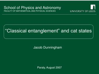 """Classical entanglement"" and cat states"