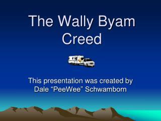 The Wally Byam Creed