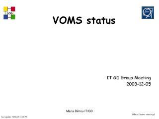 VOMS status