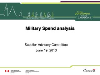 Military Spend analysis