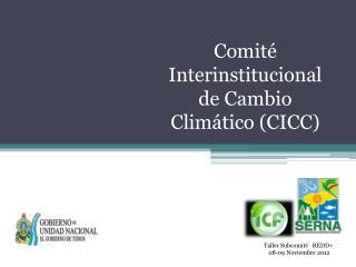 Comité Interinstitucional de Cambio Climático (CICC)