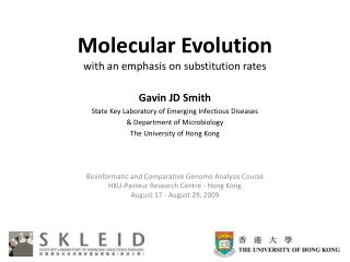 Molecular Evolution with an emphasis on substitution rates