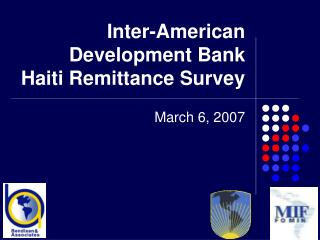 Inter-American Development Bank Haiti Remittance Survey