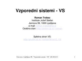 Vzporedni sistemi - VS