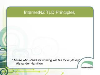 InternetNZ TLD Principles