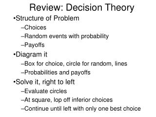 Review: Decision Theory