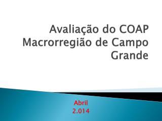 Avaliação do COAP Macrorregião de Campo Grande