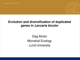 Evolution and diversification of duplicated genes in  Laccaria bicolor