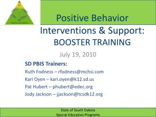 Positive Behavior Interventions & Support:  BOOSTER TRAINING
