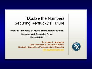 Double the Numbers Securing Kentucky's Future