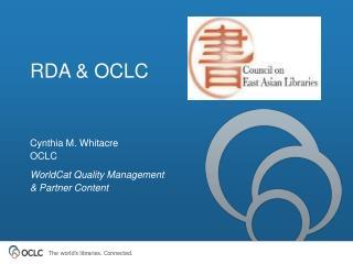 RDA & OCLC