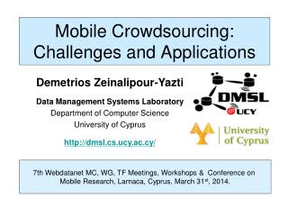 Mobile Crowdsourcing: Challenges and Applications