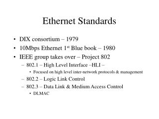 Ethernet Standards