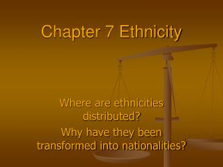 Chapter 7 Ethnicity