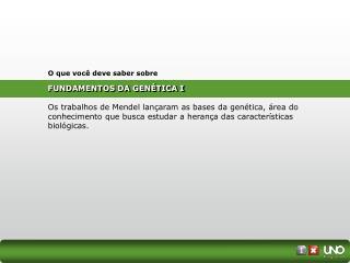 FUNDAMENTOS DA GENÉTICA I