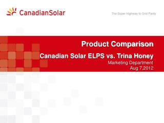 Product Comparison Canadian Solar ELPS vs. Trina Honey