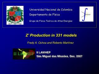 Universidad Nacional de Colombia Departamento de Física