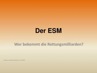 Der ESM