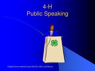 4-H Public Speaking