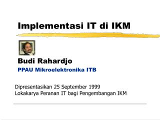 Implementasi IT di IKM