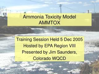 Ammonia Toxicity Model AMMTOX