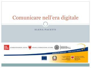 Comunicare nell'era digitale